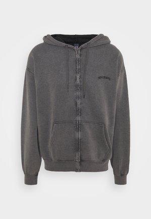 ZIP UP HOODIE UNISEX - Zip-up hoodie - black