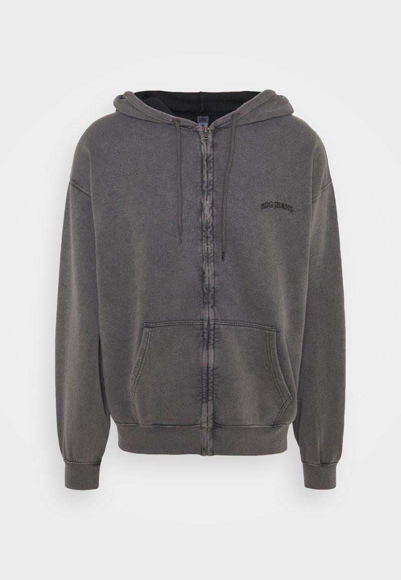 BDG Urban Outfitters - ZIP UP HOODIE UNISEX - Felpa con zip - black