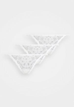 THONG 3 PACK - String - white