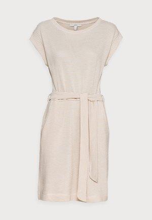 DRESS  - Jersey dress - sand