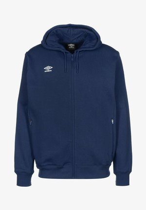 veste en sweat zippée - dark navy / white