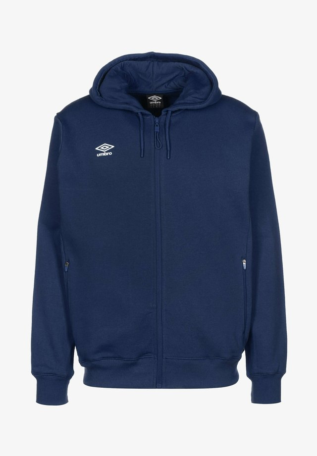 Zip-up hoodie - dark navy / white