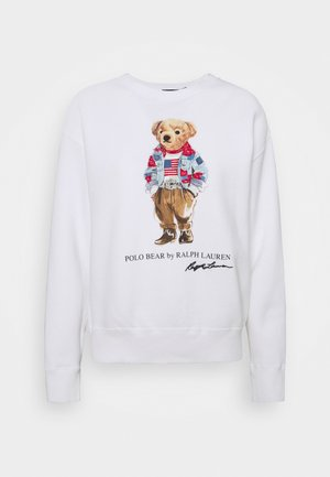 BEAR LONG SLEEVE - Sweatshirt - white