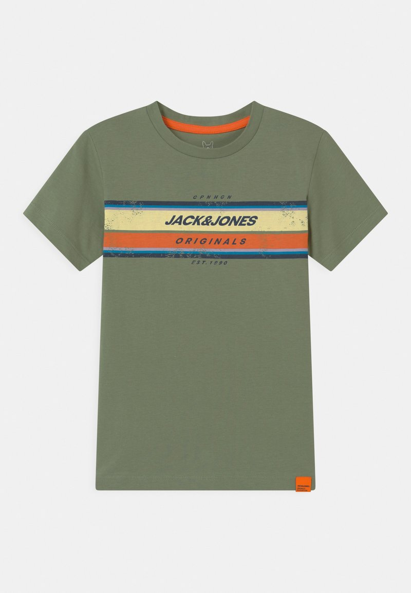 Jack & Jones Junior - JORTYLER CREW NECK - Print T-shirt - sea spray