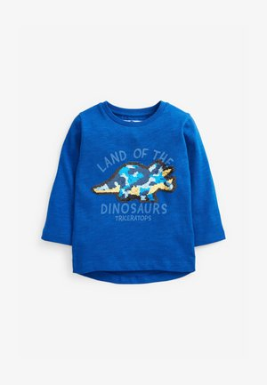 DINO FLIPPY SEQUIN - Langærmede T-shirts - blue