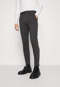 Bruuns Bazaar - POLITAN ZIP PANTS - Trousers - antracite - 0