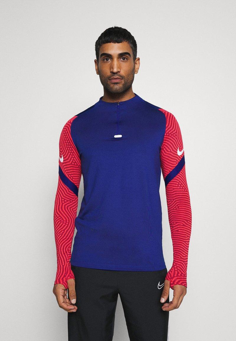 Nike Performance - DRY STRIKE DRILL - Funktionströja - deep royal blue/dark beetroot/white