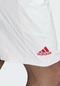 adidas Performance - ERGO SHORT - Sportovní kraťasy - white / scarlet - 6
