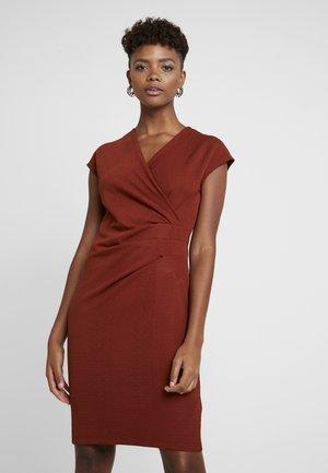 BYSOMIA DRESS - Shift dress - dark copper