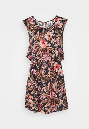 BEACH DRESS - Day dress - schwarz/apricot