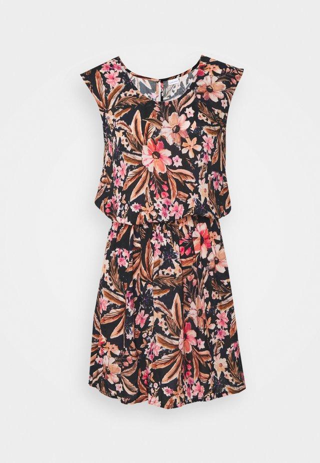 BEACH DRESS - Day dress - schwarz/apricot