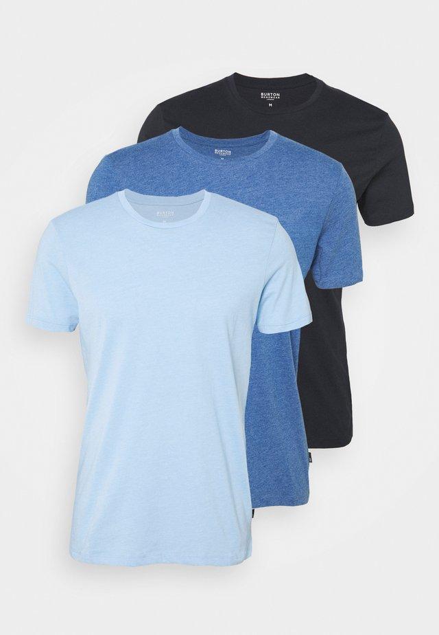 3 PACK - T-shirt - bas - blue/light blue/dark blue