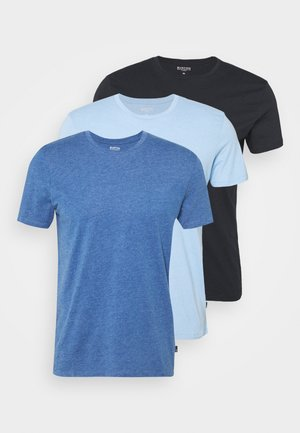 3 PACK - Jednoduché triko - blue/light blue/dark blue