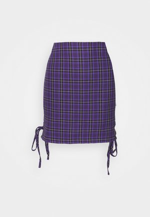 CHECK MINI SKIRT - Minifalda - purple