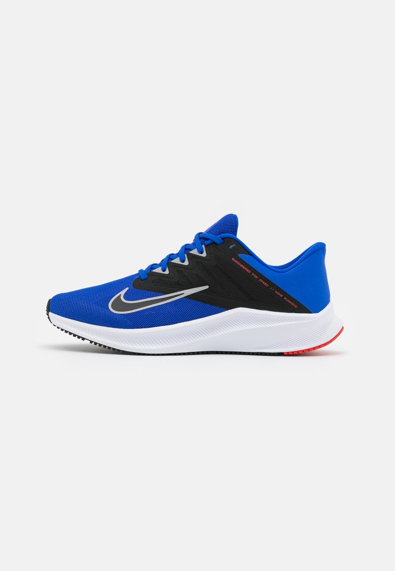 Nike Performance - QUEST 3 - Zapatillas de running neutras - racer blue/light smoke grey/black/chile red/white