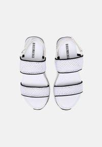 Bikkembergs - REBECA - Platform sandals - white/black - 5