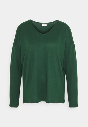 KASIANE V NECK  - Jumper - dark green