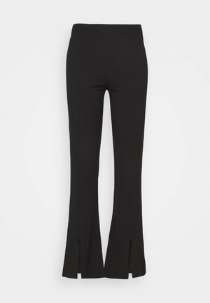 JDYPRETTY FLARE SLIT PANT  - Trousers - black