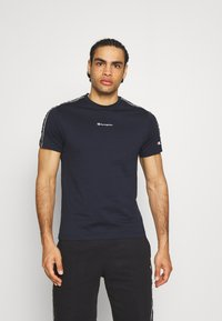 Champion - CREWNECK - T-shirt imprimé - dark blue - 0