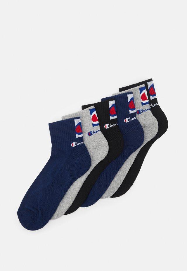 ANKLE SOCKS FASHION DOUBLE LOGO 6 PACK UNISEX - Sportovní ponožky - navy/grey/black