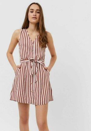 VMVIVIANA  - Shirt dress - marsala