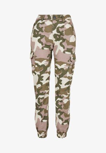 Cargo trousers - duskrose camo