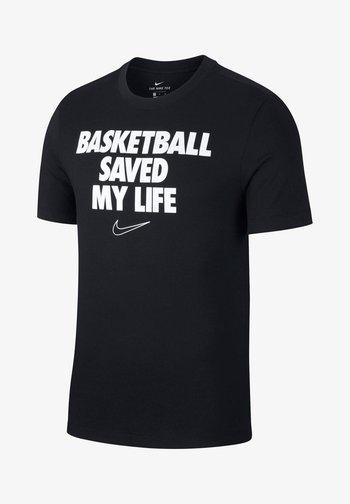 HERREN BASKETBALL - Camiseta estampada - schwarz (200)