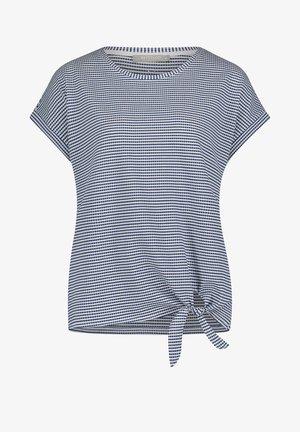 T-shirt print - blau/weiß