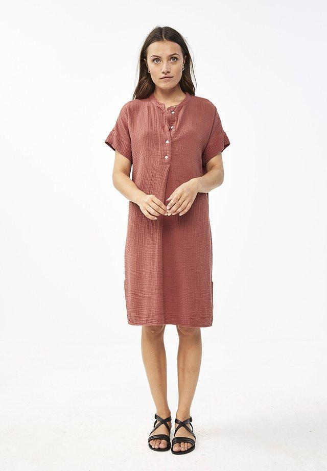 Korte jurk - bright plum