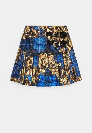 SKIRT - Minijupe - blue/gold
