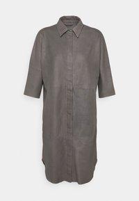 DEPECHE - LONG SHIRT DRESS - Blousejurk - concrete - 0