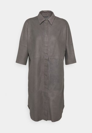 LONG SHIRT DRESS - Abito a camicia - concrete