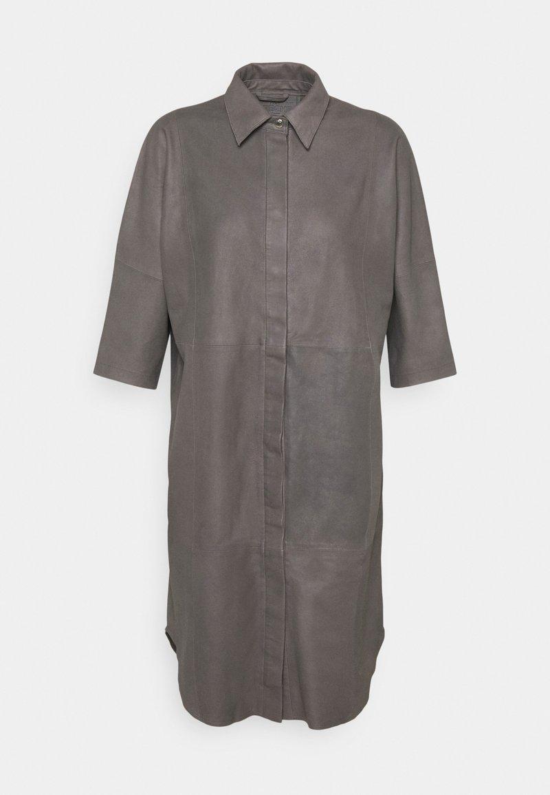 DEPECHE - LONG SHIRT DRESS - Blousejurk - concrete