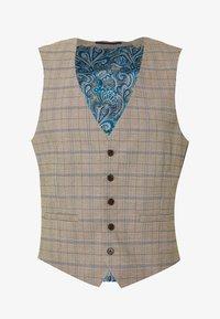 Burton Menswear London - CHECK WAISTCOAT - Gilet elegante - neutral - 0