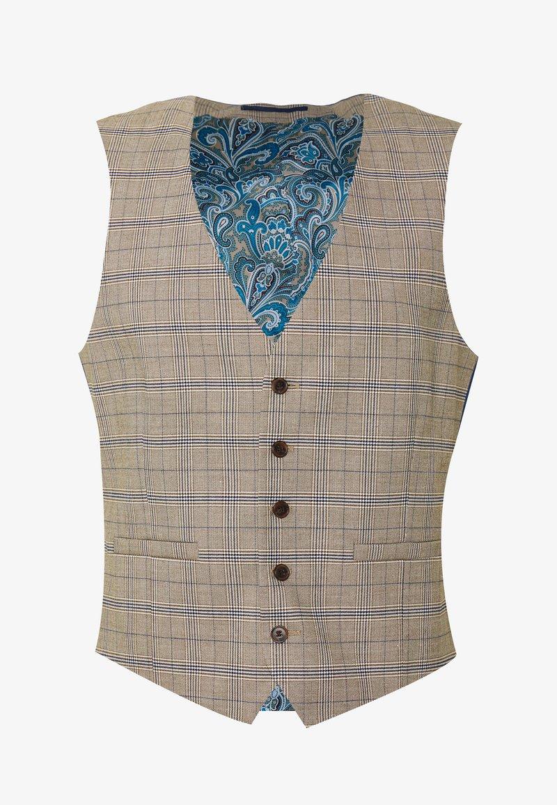 Burton Menswear London - CHECK WAISTCOAT - Gilet elegante - neutral