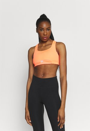 AIR BRA - Medium support sports bra - bright mango/silver