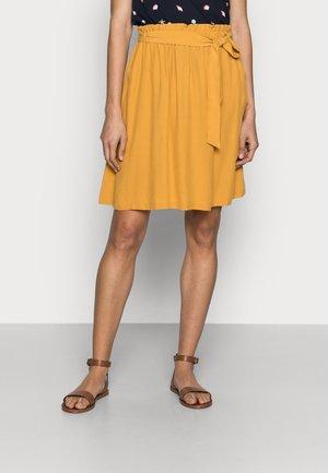 SKIRT - Mini skirt - gold