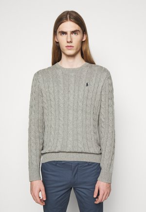 CABLE - Pullover - fawn grey heather