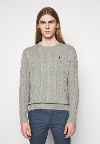 CABLE - Maglione - fawn grey heather