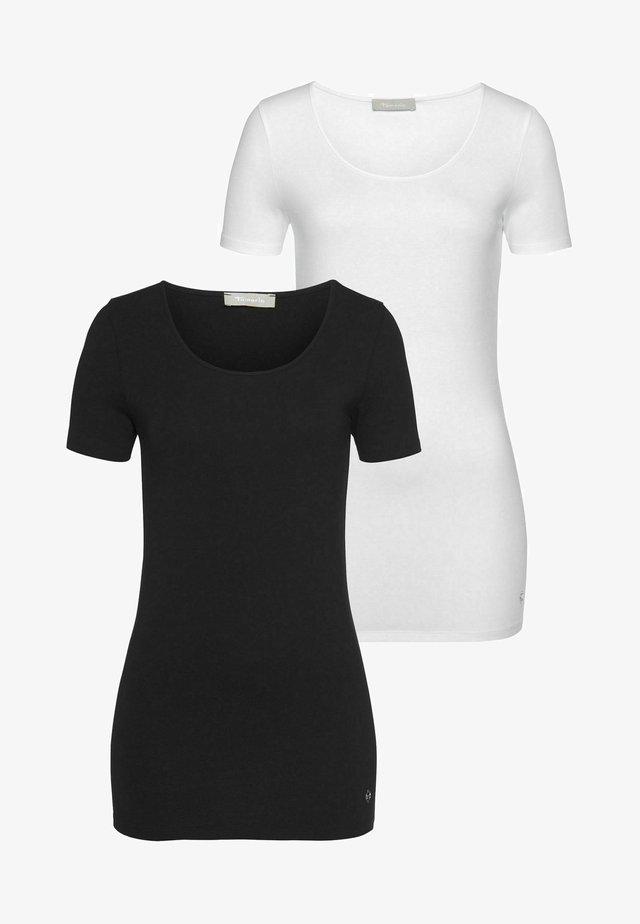 pack of 2  - T-shirt basique - schwarz/weiß