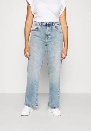 CARHOPEEX HIGH WIDE LEG REAINC - Jeans a sigaretta - light blue denim