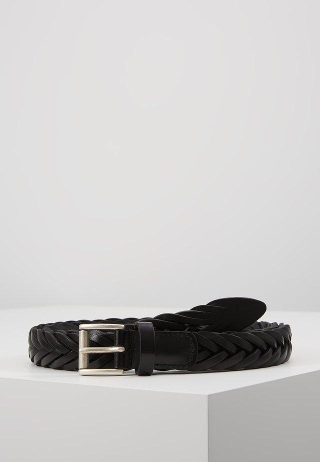 BELT - Palmikkovyö - black