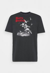 Mennace - BORN SCARED - T-shirt con stampa - black - 4