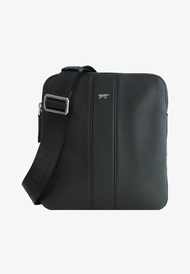 EINFARBIGER OPTIK - Across body bag - black