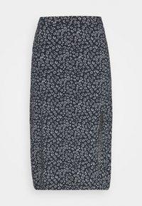 Hollister Co. - SLIP SKIRT - A-line skirt - navy - 3