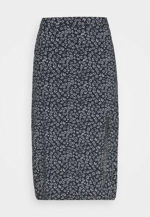 SLIP SKIRT - A-snit nederdel/ A-formede nederdele - navy