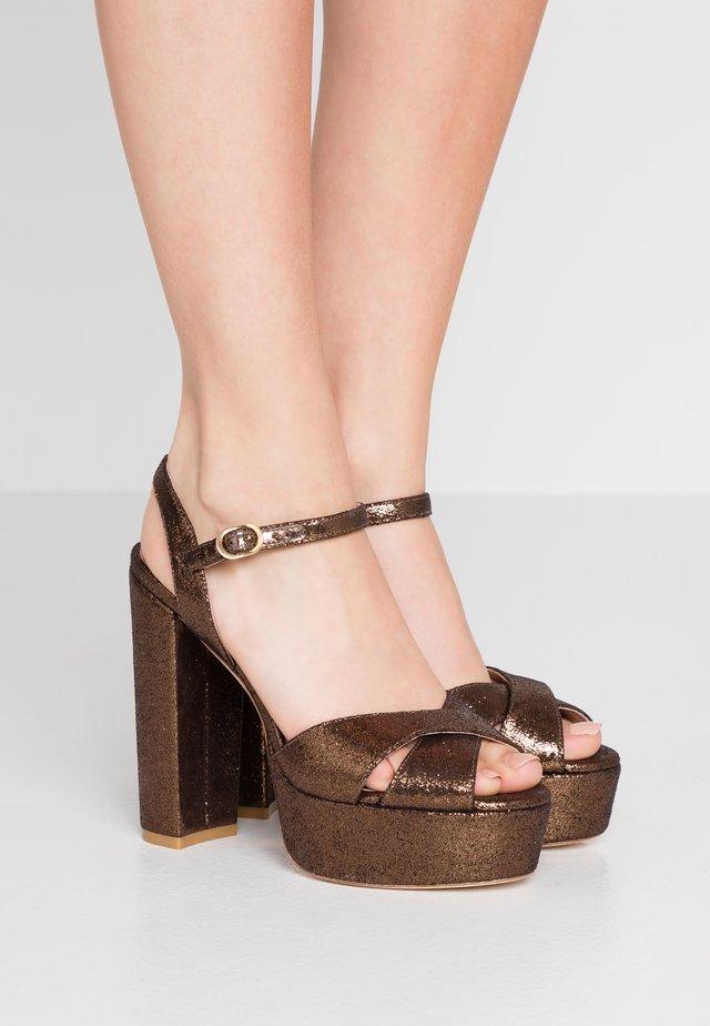 SOLIESSE - Sandales à talons hauts - bronze