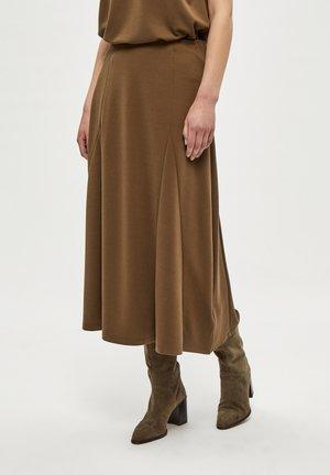 LANA  - A-line skirt - crocodile green