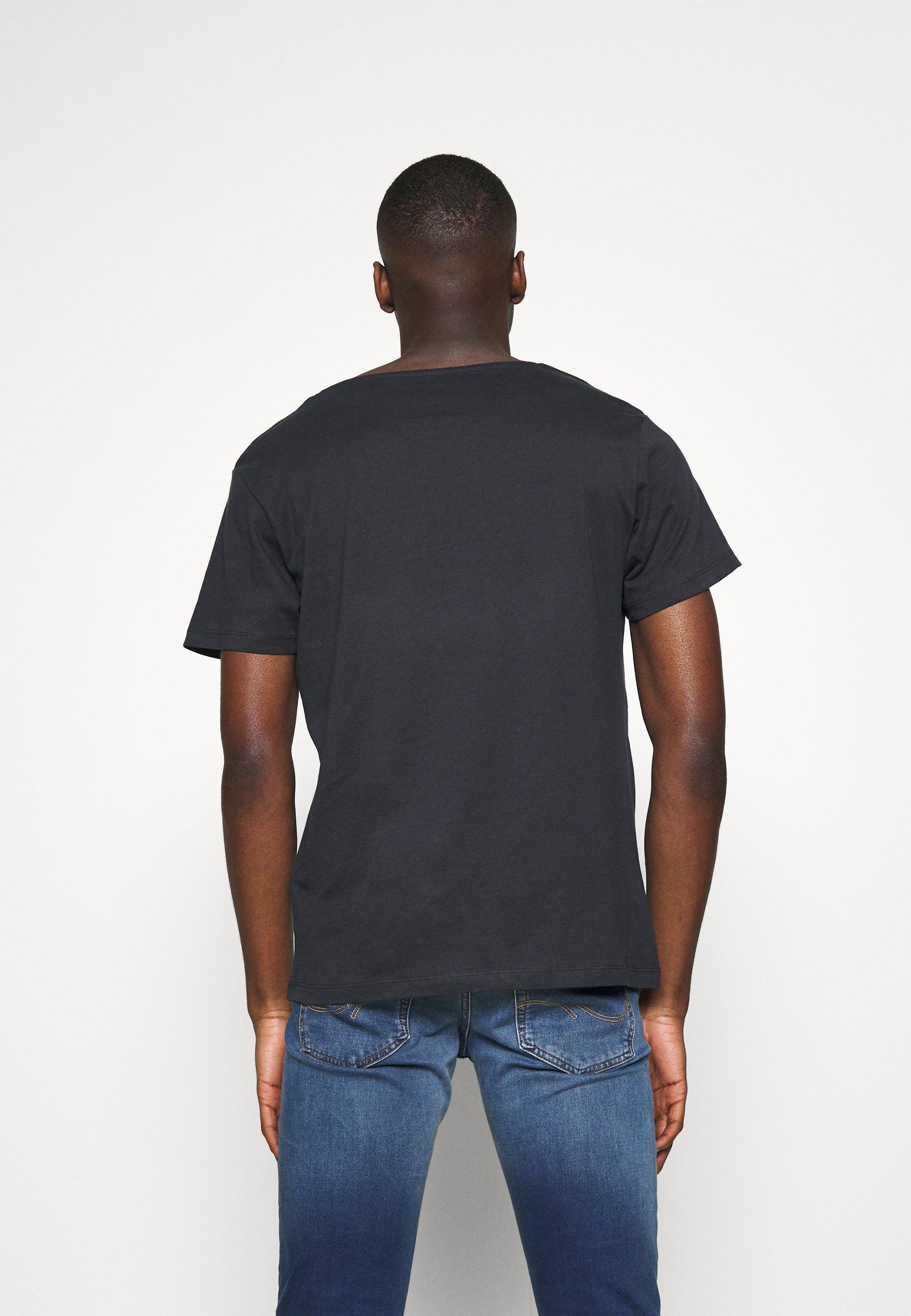 Jack & Jones JORBRIAN  - Print T-shirt - dark blue Hzn6t