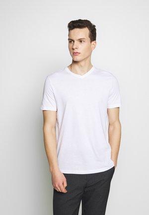 BASIC VNECK - T-paita - white